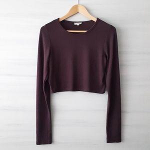 Wilfred Free Long Sleeve Knit Crop Top